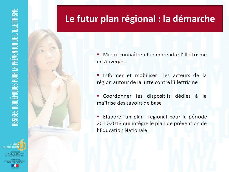 Le futur plan régional : la démarche
