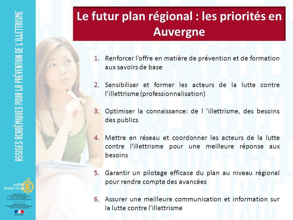 Le futur plan régional : les priorités en Auvergne