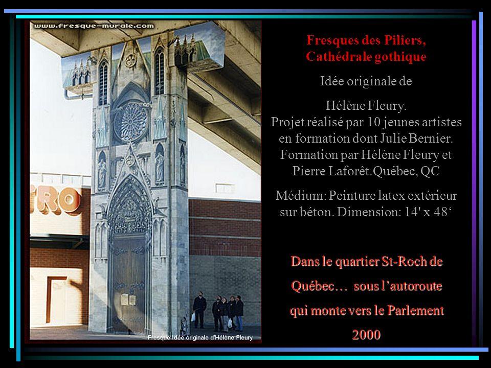 Fresques des Piliers, Cathédrale gothique