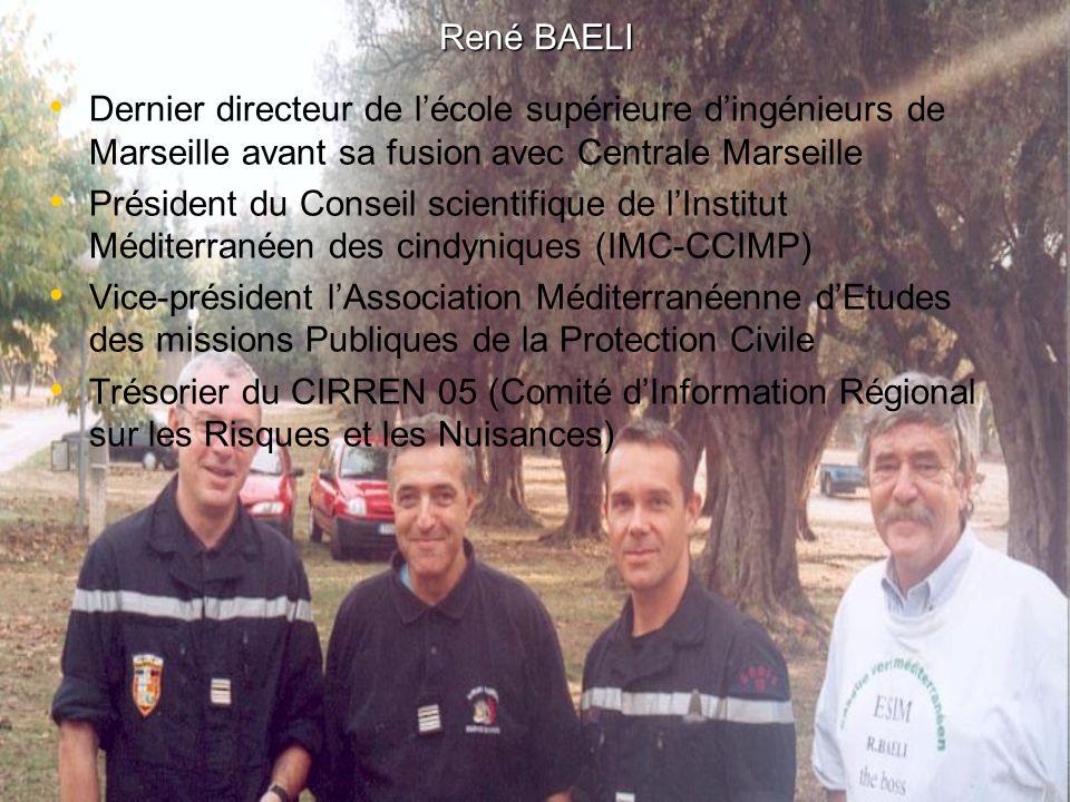 René BAELI Dernier directeur de l'école supérieure d'ingénieurs de Marseille avant sa fusion avec Centrale Marseille.