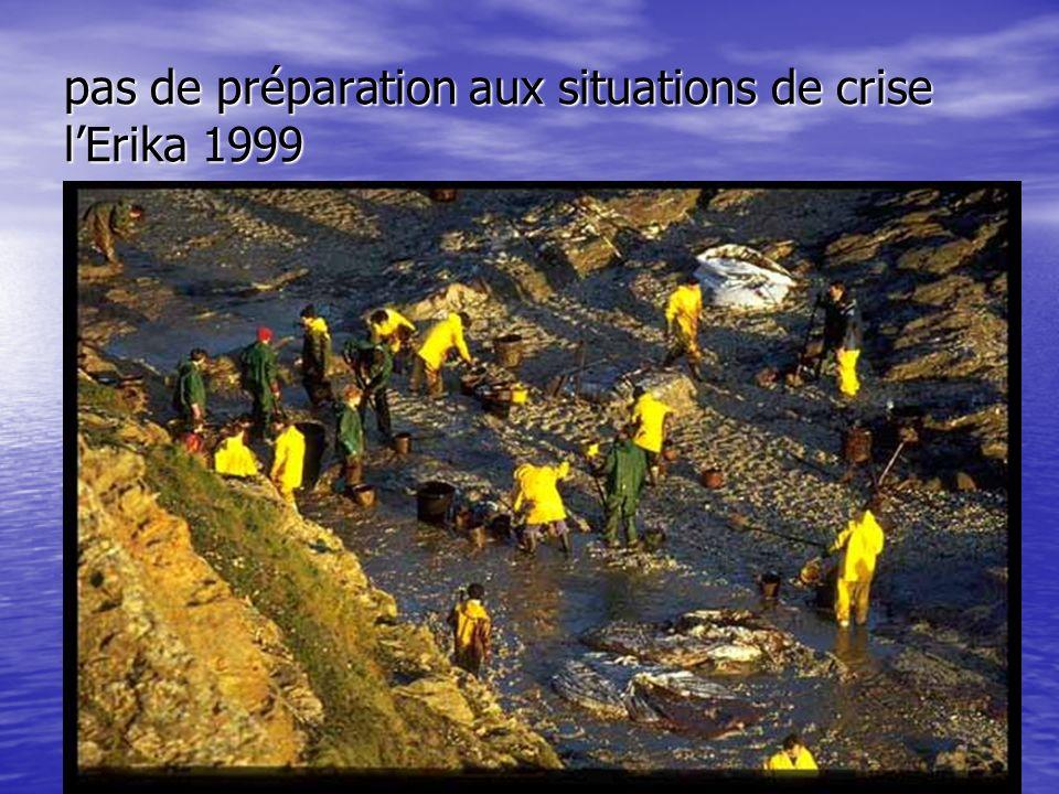 pas de préparation aux situations de crise l'Erika 1999