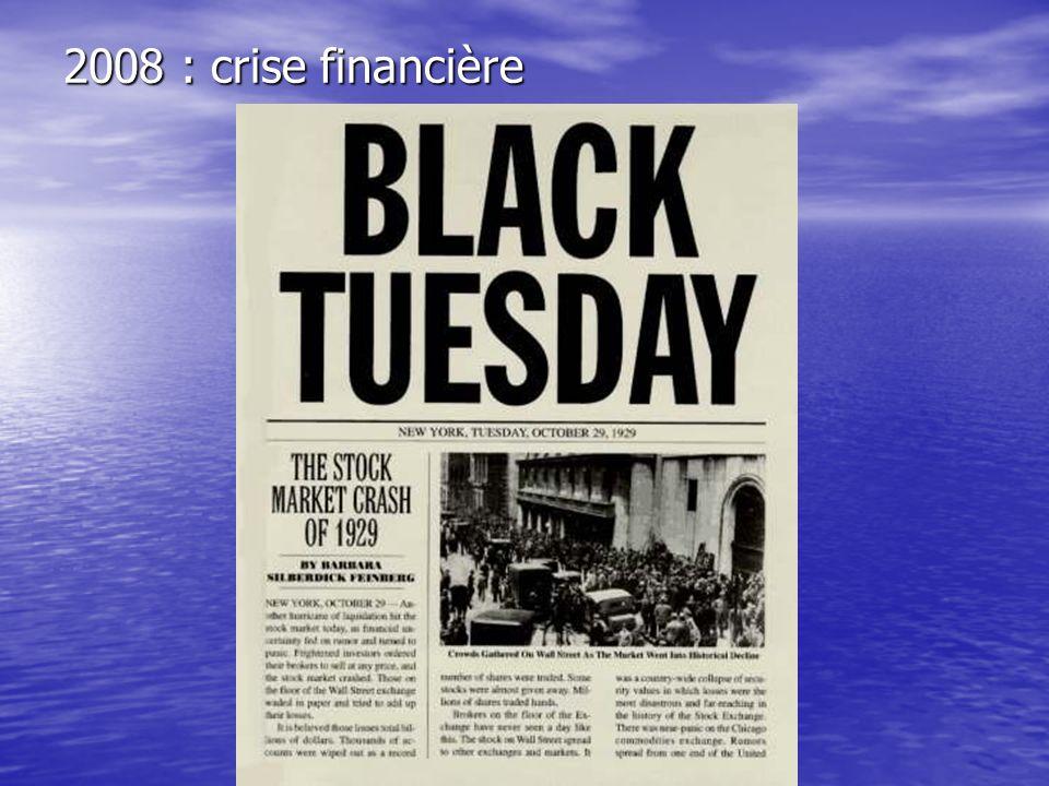 2008 : crise financière