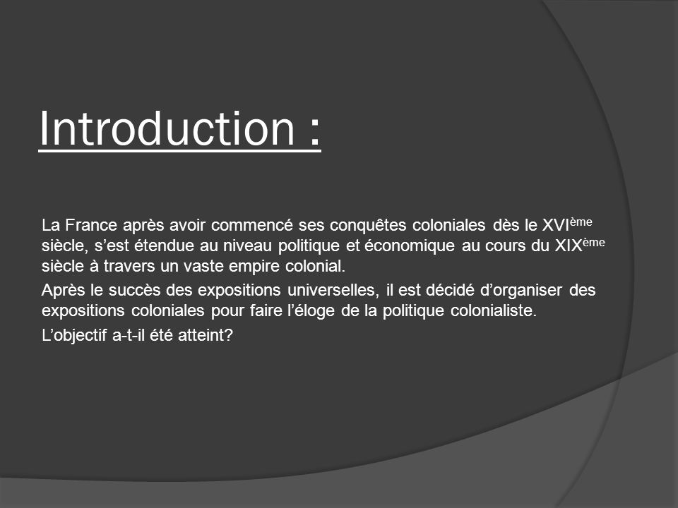 Introduction :