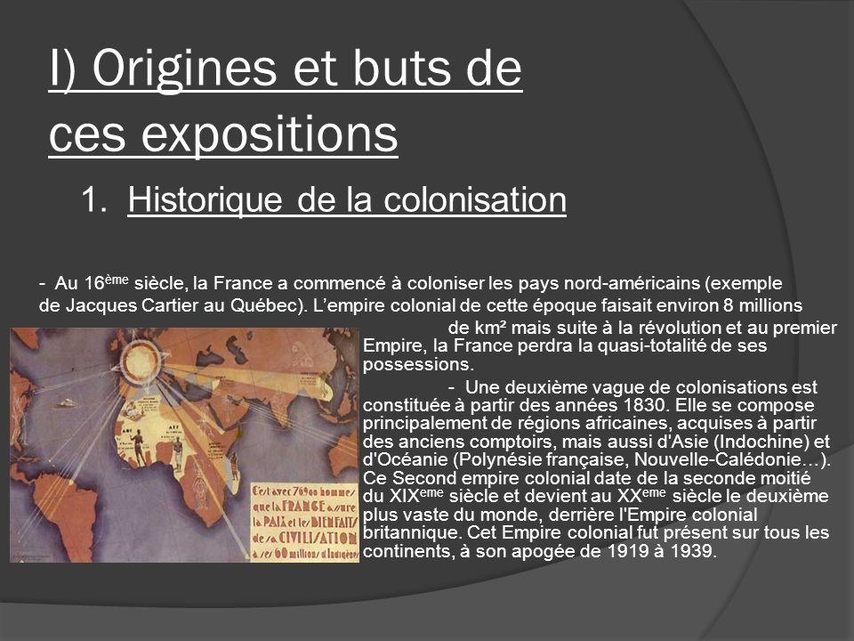I) Origines et buts de ces expositions