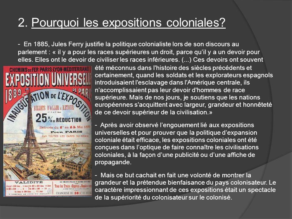 2. Pourquoi les expositions coloniales