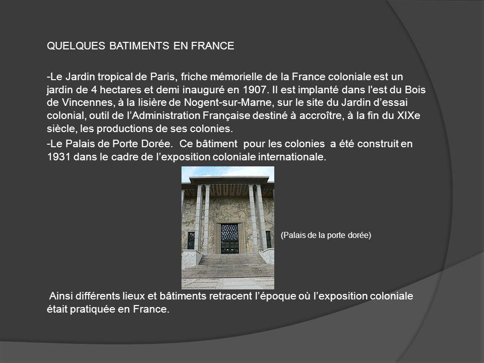 QUELQUES BATIMENTS EN FRANCE