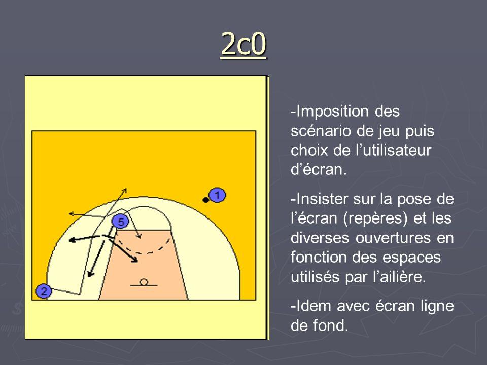 2c0 Imposition des scénario de jeu puis choix de l'utilisateur d'écran.