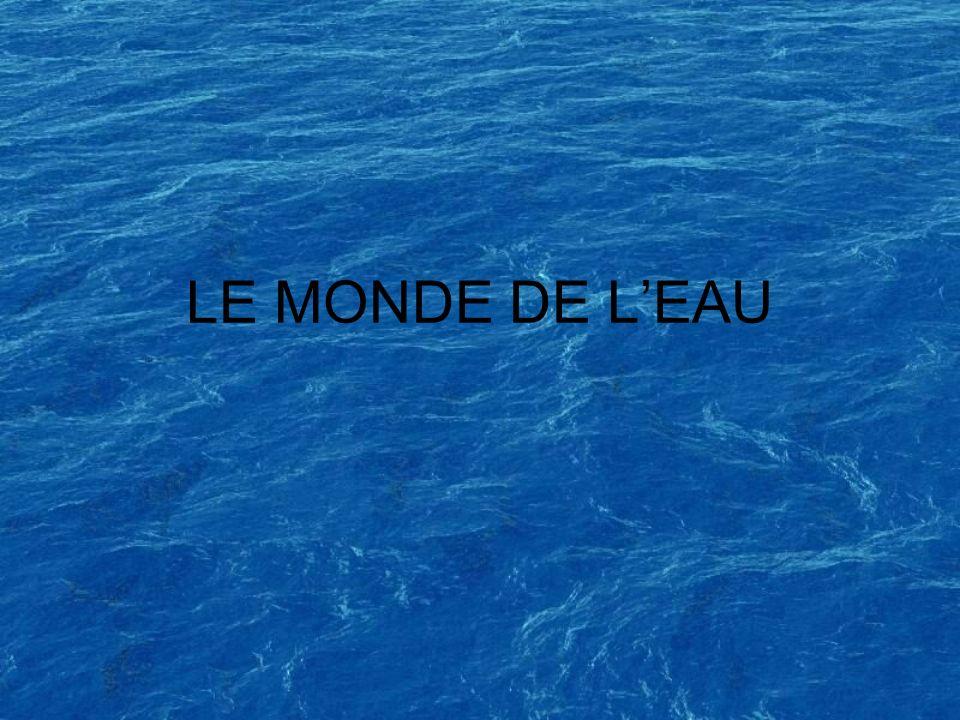 LE MONDE DE L'EAU