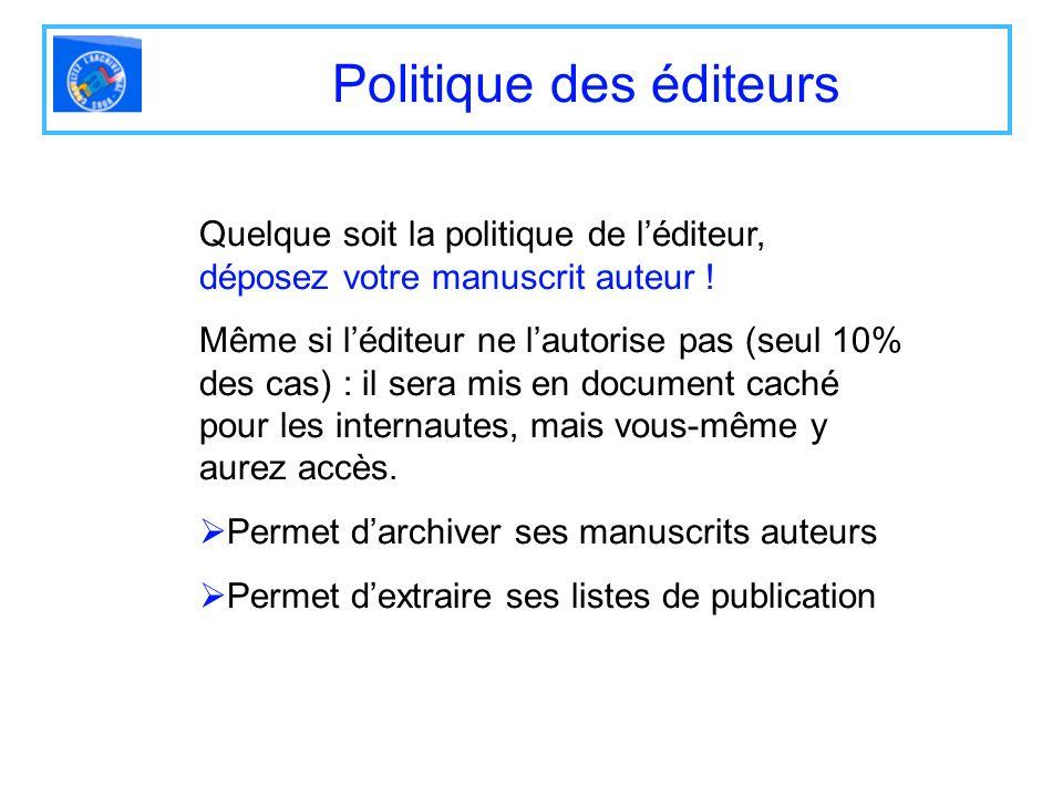 Politique des éditeurs