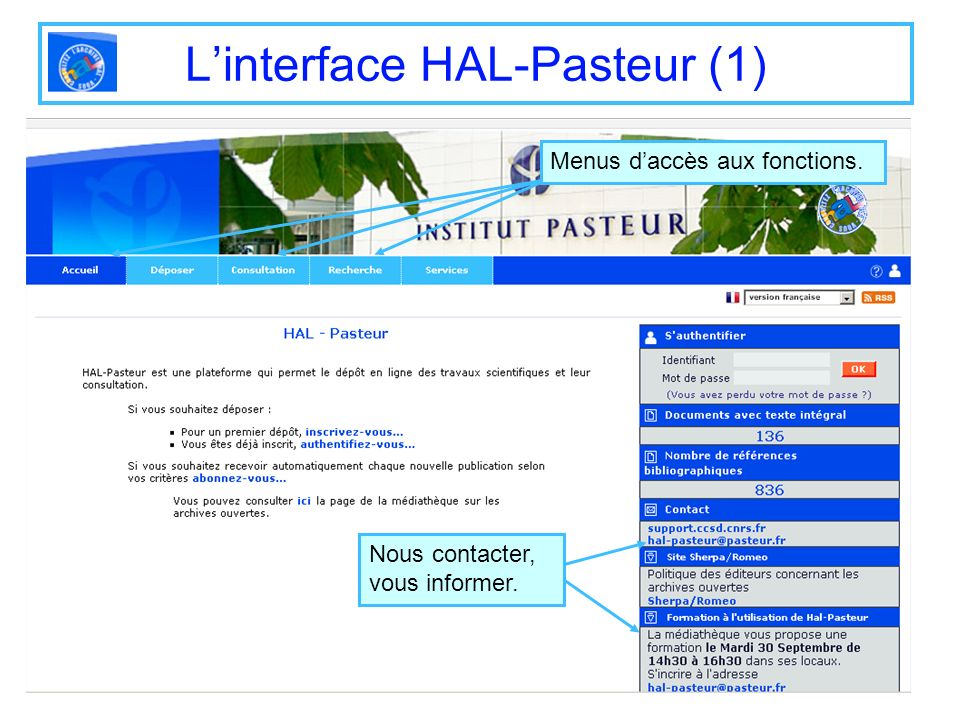L'interface HAL-Pasteur (1)