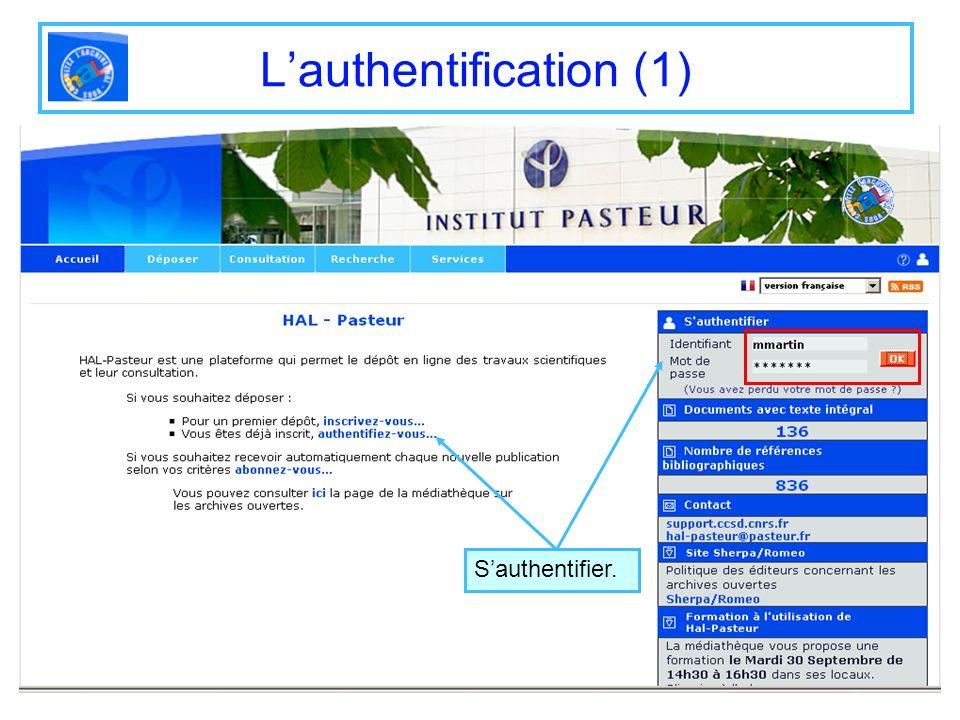 L'authentification (1)