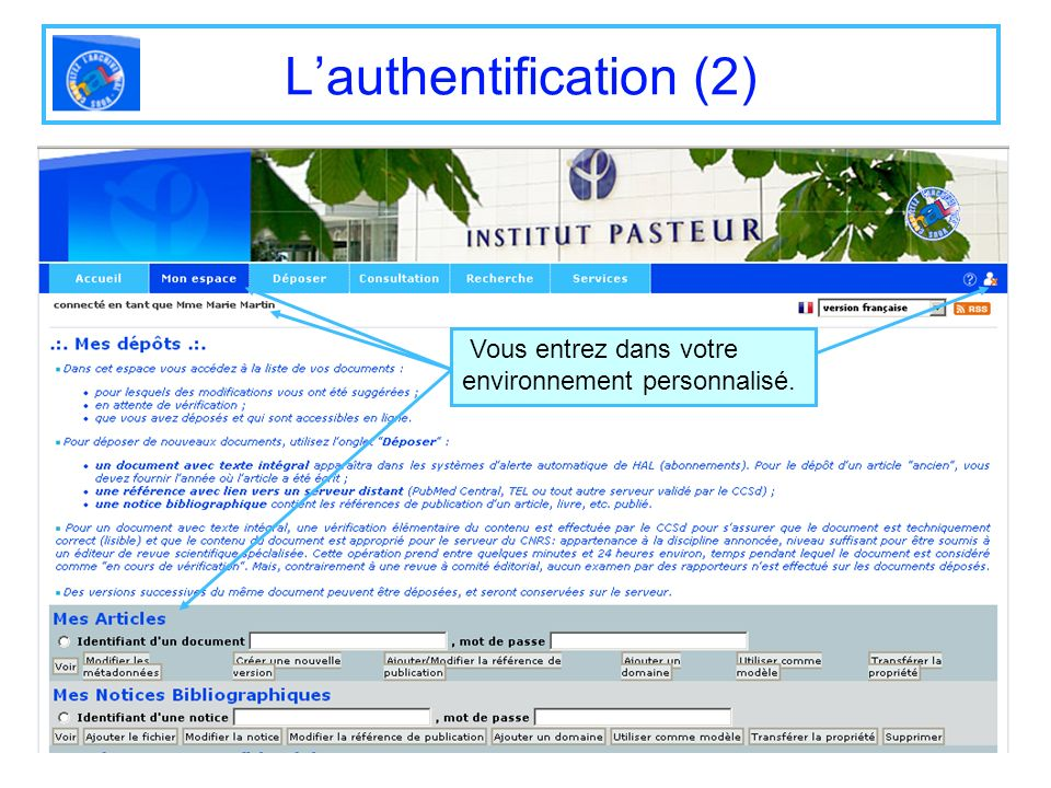L'authentification (2)