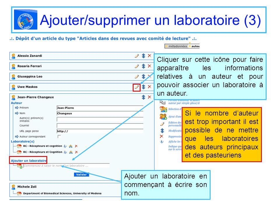 Ajouter/supprimer un laboratoire (3)