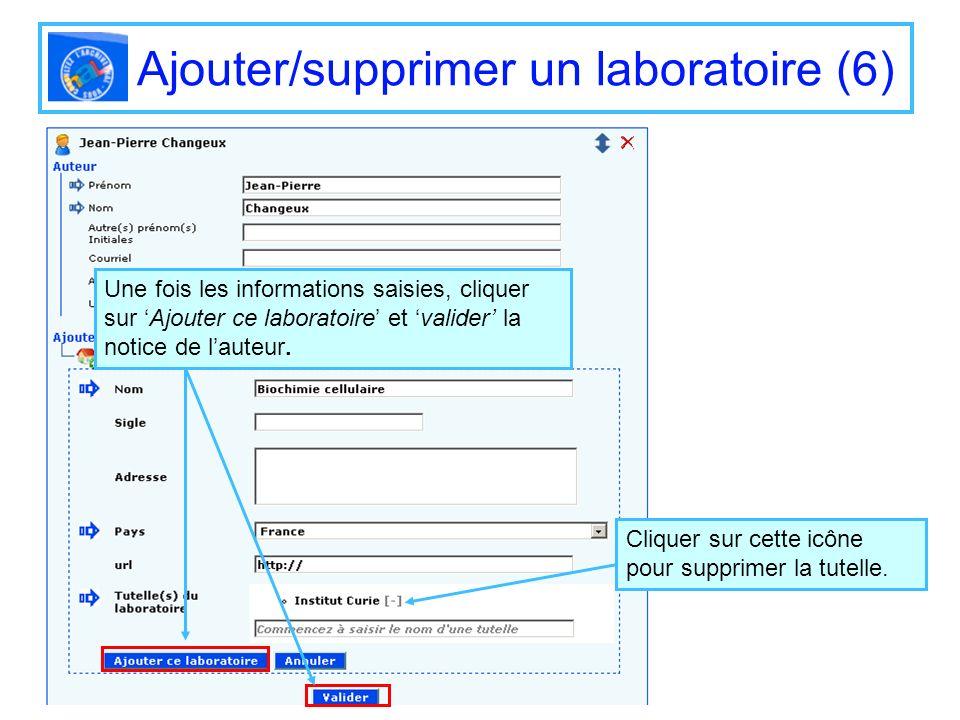 Ajouter/supprimer un laboratoire (6)