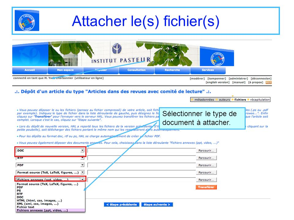 Attacher le(s) fichier(s)