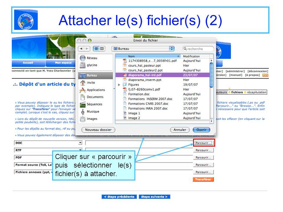 Attacher le(s) fichier(s) (2)