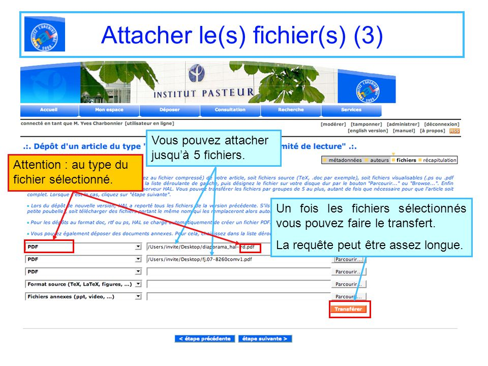 Attacher le(s) fichier(s) (3)