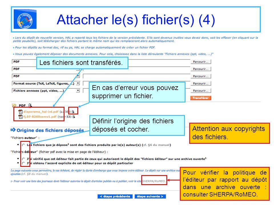 Attacher le(s) fichier(s) (4)
