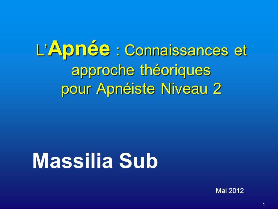 L'Apnée : Connaissances et approche théoriques pour Apnéiste Niveau 2