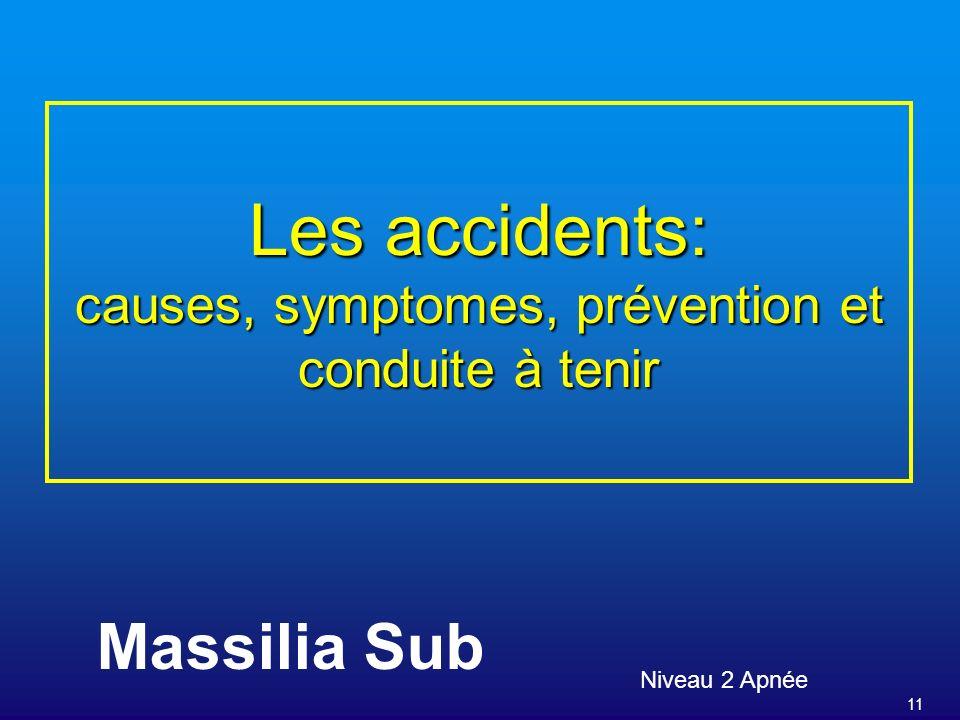 Les accidents: causes, symptomes, prévention et conduite à tenir