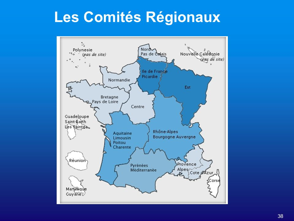 Les Comités Régionaux 38