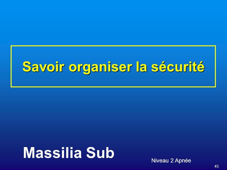 Savoir organiser la sécurité