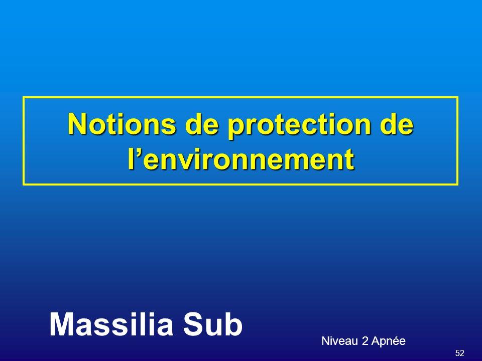 Notions de protection de l'environnement