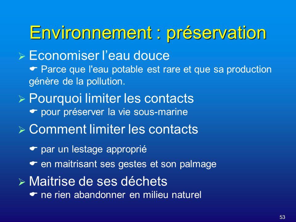 Environnement : préservation