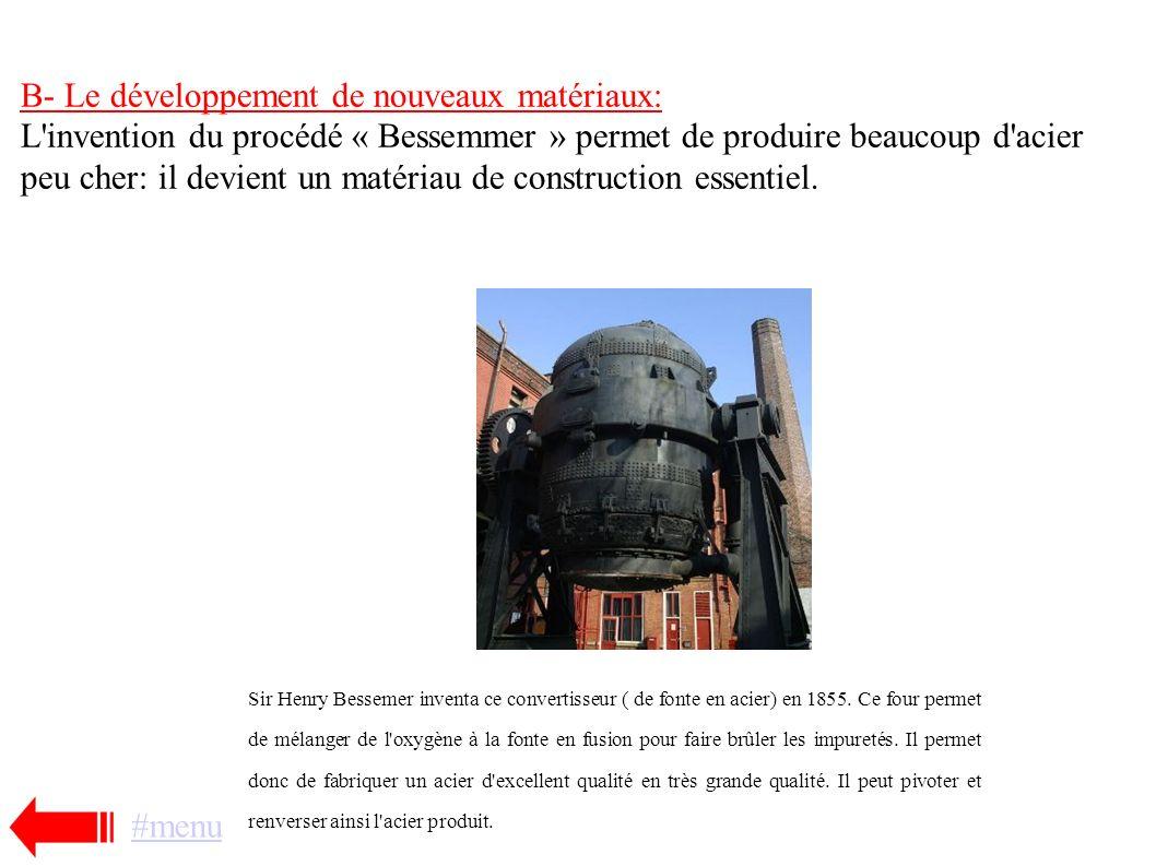 B- Le développement de nouveaux matériaux: