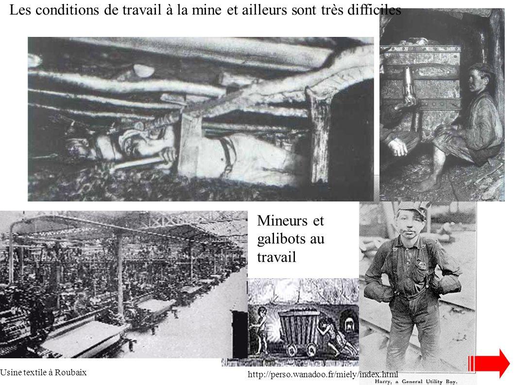 Les conditions de travail à la mine et ailleurs sont très difficiles