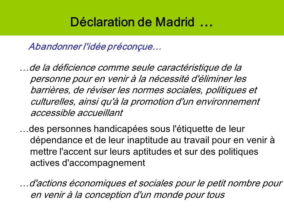 Déclaration de Madrid …