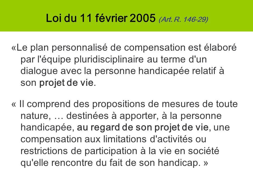 Loi du 11 février 2005 (Art. R. 146-29)