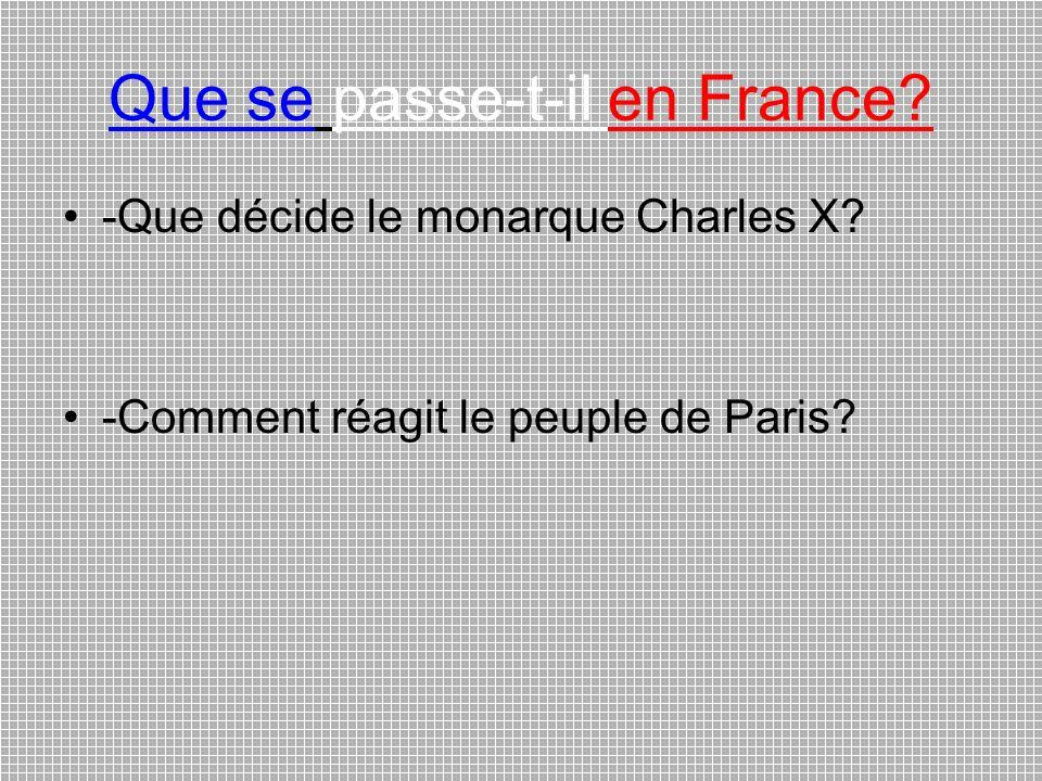 Que se passe-t-il en France