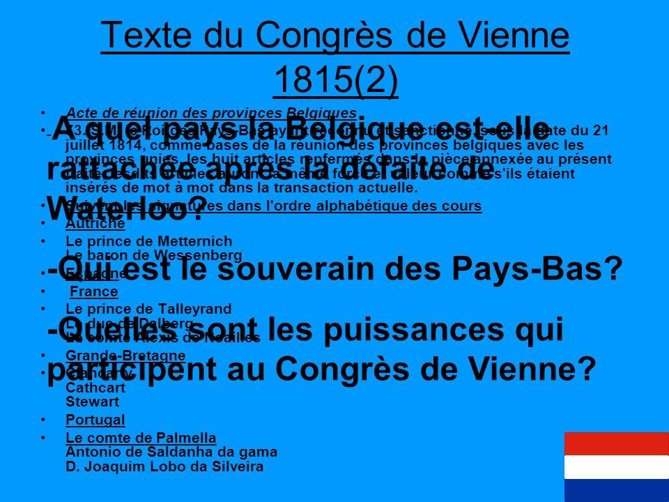 Texte du Congrès de Vienne 1815(2)