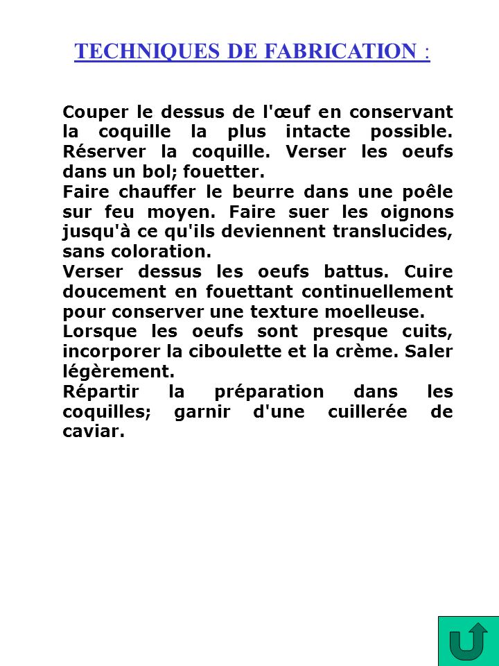TECHNIQUES DE FABRICATION :