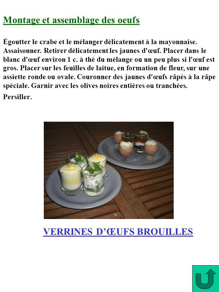 VERRINES D'ŒUFS BROUILLES