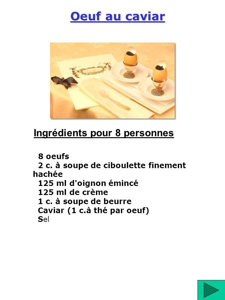 Ingrédients pour 8 personnes