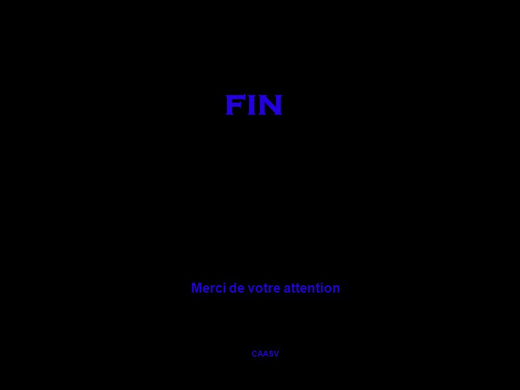 fin Merci de votre attention CAASV
