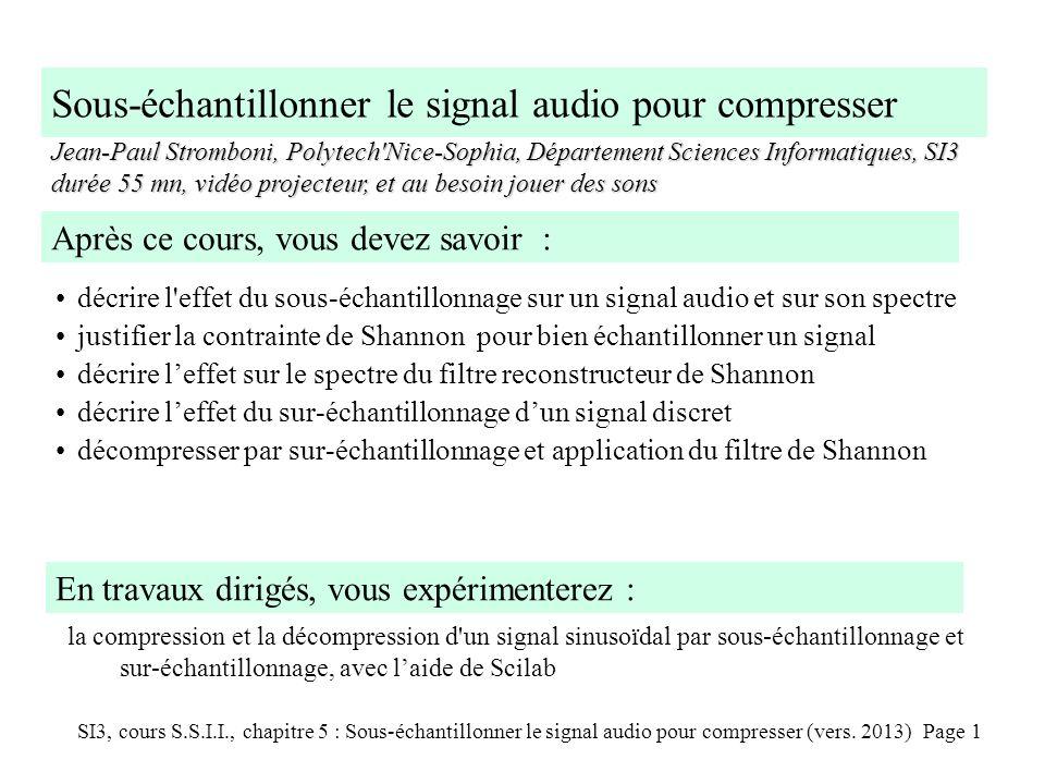 Sous-échantillonner le signal audio pour compresser