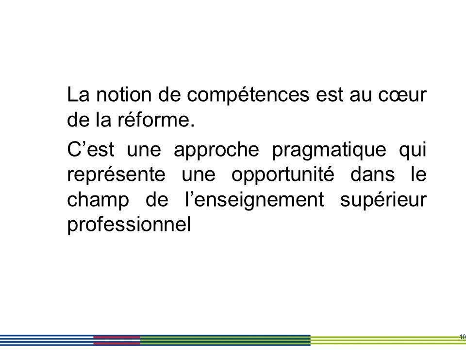 La notion de compétences est au cœur de la réforme.