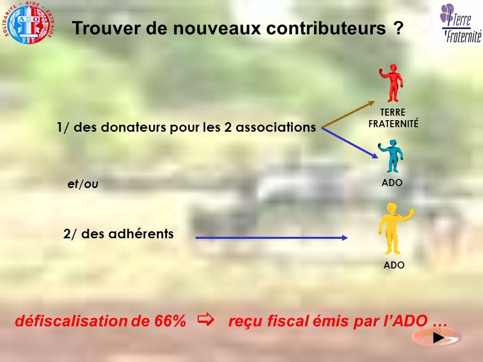 1/ des donateurs pour les 2 associations