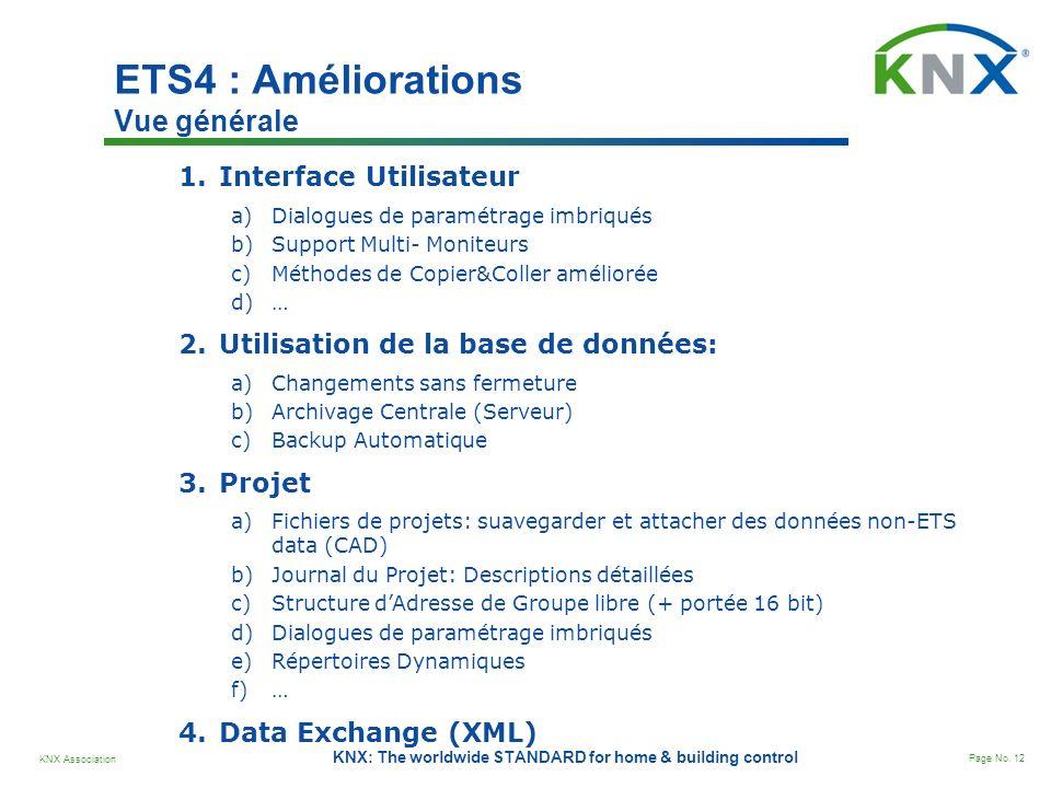 ETS4 : Améliorations Vue générale
