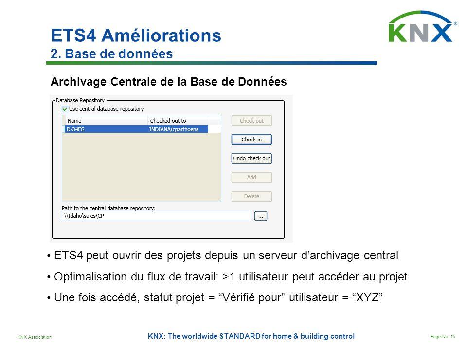 ETS4 Améliorations 2. Base de données