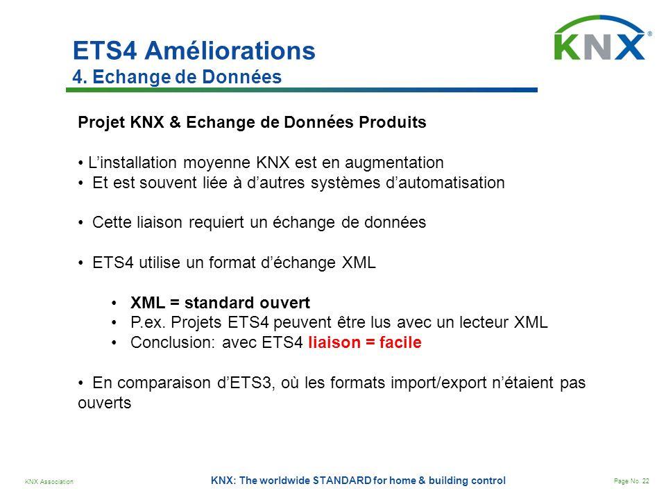 ETS4 Améliorations 4. Echange de Données
