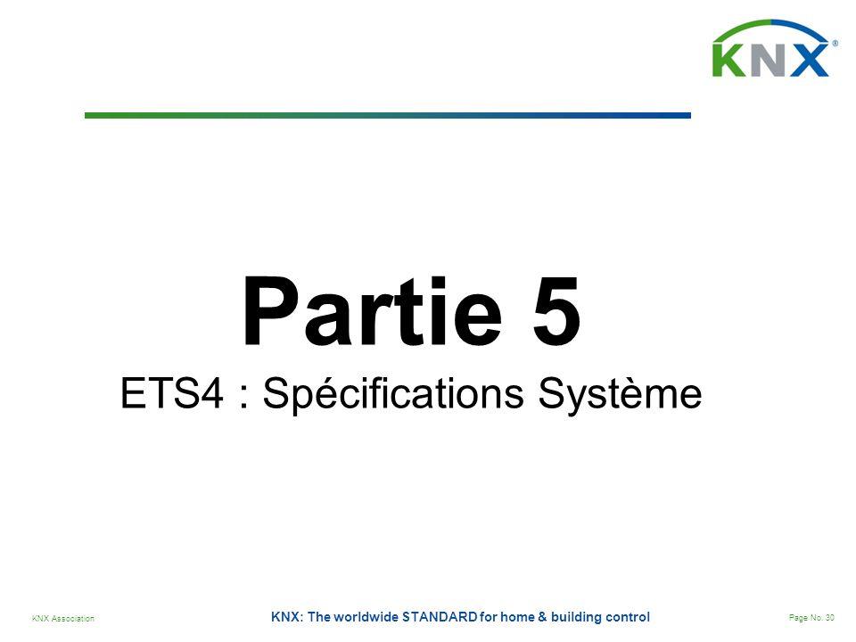 ETS4 : Spécifications Système