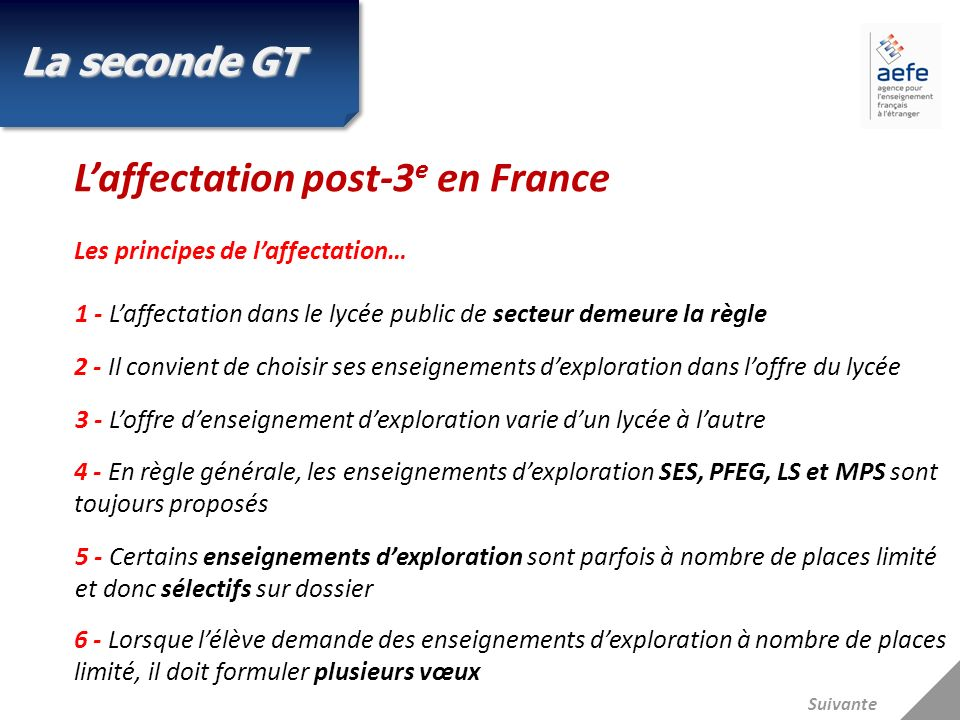 L'affectation post-3e en France