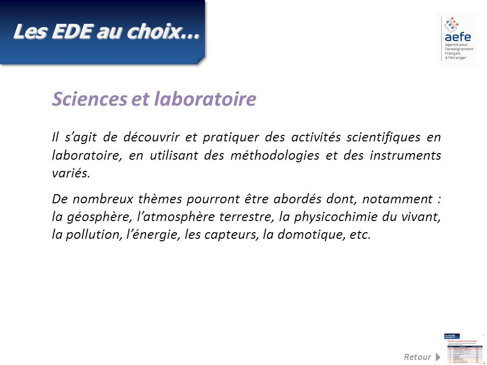 Sciences et laboratoire