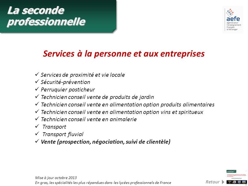 Services à la personne et aux entreprises