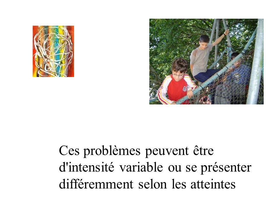 Ces problèmes peuvent être d intensité variable ou se présenter différemment selon les atteintes
