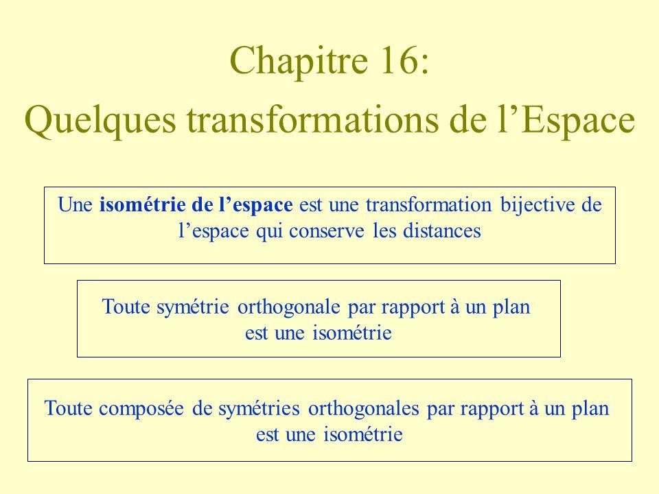 Chapitre 16: Quelques transformations de l'Espace